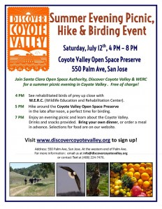 July 12 Coyote Valley Picnic Flyer